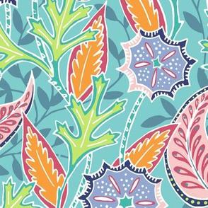 Oak Paisley - Turquoise