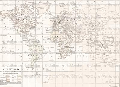 Cream Map Repeat