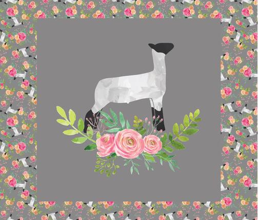 30 x 30 Lamb Panel fabric by thecraftyblackbird on Spoonflower - custom fabric
