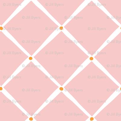 Diamonds and Dots - Rose Orange