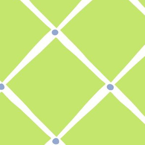 Diamonds and Dots - Lime Serenity blue