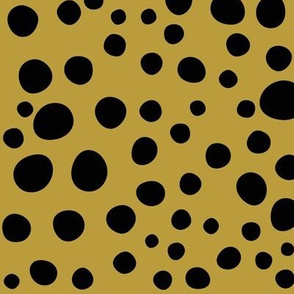 Leopard spots - black on mustard, mustard spots || by sunny afternoon