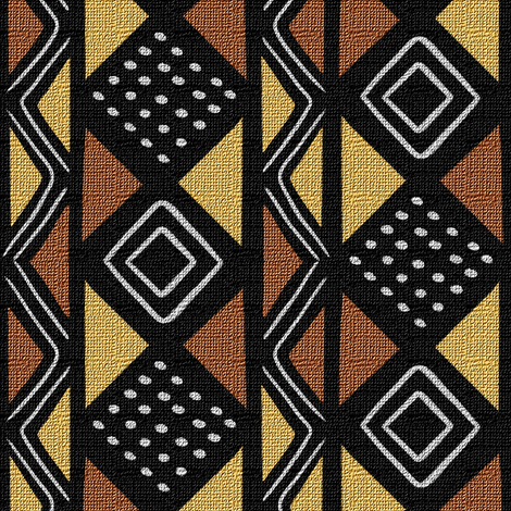 Mudcloth Inspired Stars and Boxes fabric by eclectic_house on Spoonflower - custom fabric