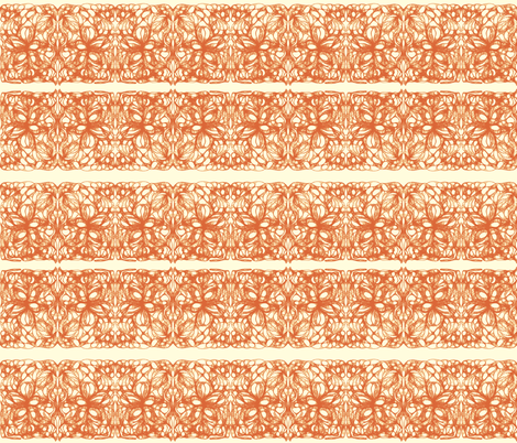 Autumn Lace on Magnolia Cream fabric by rhondadesigns on Spoonflower - custom fabric