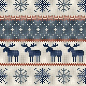 moose || christmas sweater