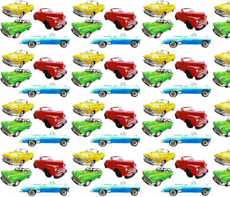 Cuba_cars_fabric fabric by art_by_aysha on Spoonflower - custom fabric