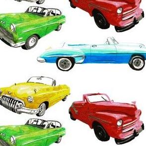 Cuba_cars_fabric