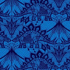 Stegosaurus Lace - Blue
