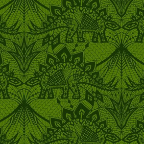 Stegosaurus Lace - Green
