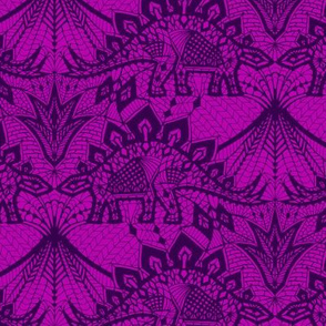 Stegosaurus Lace - Purple