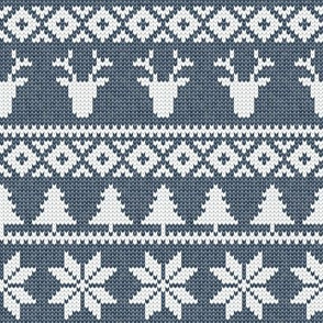 fair isle (deer) navy || winter knits