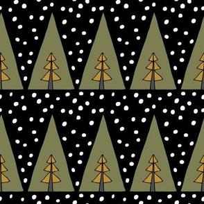 Tri Trees - Sage, Dark Caramel
