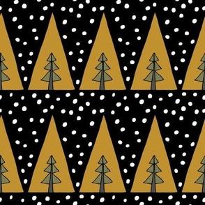Tri Trees -  Dark Caramel, Sage