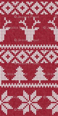 fair isle deer (red)    snowflake    winter knits