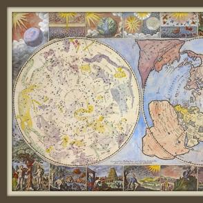 Heavens and Earth World Map, Yard