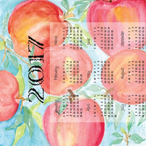 2017 Calendar Watercolor Apples