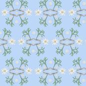 2941 Flannel_Flower#2 -Blue_Pale