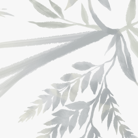 Fern Leaves - White - Large Scale fabric by andreaalice on Spoonflower - custom fabric