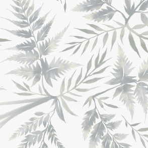 Fern Leaves - White - Large Scale - F19AAM
