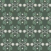 2941 Flannel_Flower#2 -Green_Deep