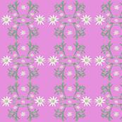 2941 Flannel_Flower#2 -Pink