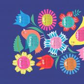 Birds and Flowers 2017 calendar