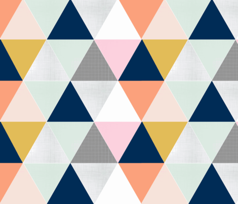 Chelsea Triangles fabric by tycdesignco on Spoonflower - custom fabric