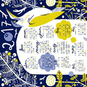 Blueberry_weed_tea_towel_calendar