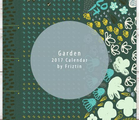 2017 Garden Calendar by Friztin