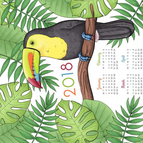 Toucan Tea Towel Calendar 2018
