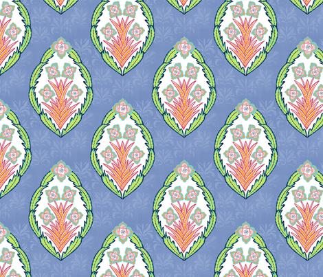 Louise - Lime fabric by jillbyers on Spoonflower - custom fabric