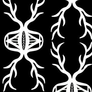 Lucky Deer Antlers black white
