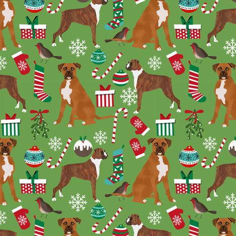 boxer dog christmas fabric cute xmas holiday christmas fabrics best xmas holiday dogs fabric by petfriendly on Spoonflower - custom fabric