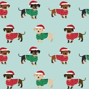 doxie christmas fabrics cute dachshunds in sweaters best doxie dogs fabric
