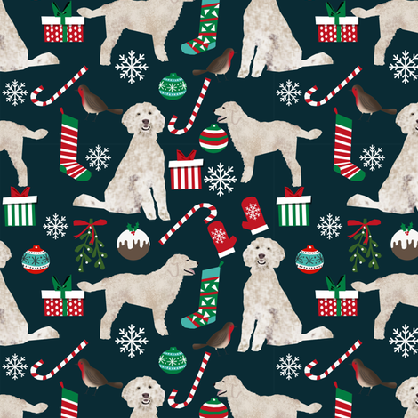 golden doodle christmas fabric cute christmas designs best golden doodle fabrics fabric by petfriendly on Spoonflower - custom fabric