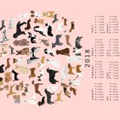 2018Dog Breed Calendar