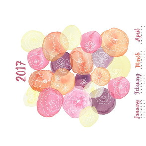 Watercolor Calendar 2017