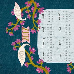 2017 Happy Floral Calendar