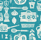 Pots and Pans - turquoise
