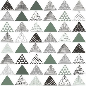 Triangles Geometric Patterned Green