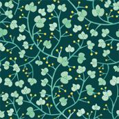 Blue Clover Leaves