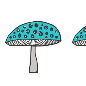 Mushroom Pillow Plush Plushie Softie Cut & Sew Woodland Fall
