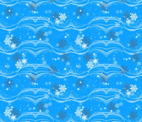 Snowy Christmas  fabric by lanrete58 on Spoonflower - custom fabric