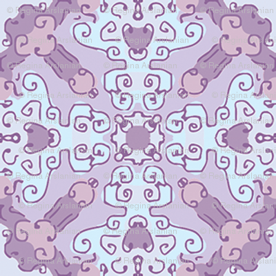 Diamond Flourish. Violets, Small