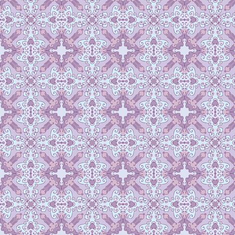 Diamond Flourish. Violets, Small fabric by palifino on Spoonflower - custom fabric