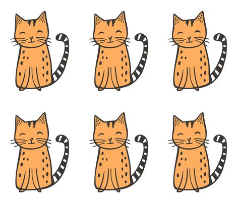 Cats Pillow Plush Plushie Softie Cut & Sew fabric by caja_design on Spoonflower - custom fabric