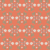 2941 Flannel_Flower#2 -Tangerine