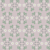 2941 Flannel_Flower#2 -Taupe