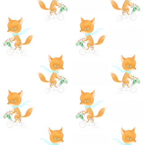 Fox fabric by dariara on Spoonflower - custom fabric