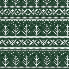fair isle - tree (green) || winter knits